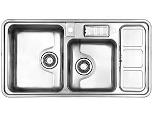 سینک ظرفشویی استیل البرز کد ۸۱۳