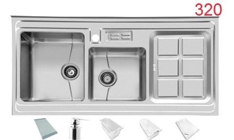 سینک ظرفشویی روکار اخوان کد320
