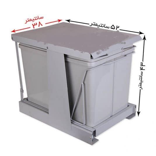 سطل زباله توکار درب بازشو ۸۳۲
