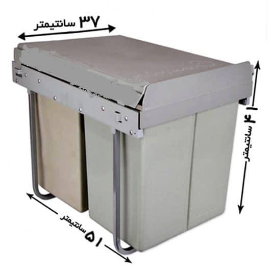 سطل زباله ریلی کابینت سیمتال