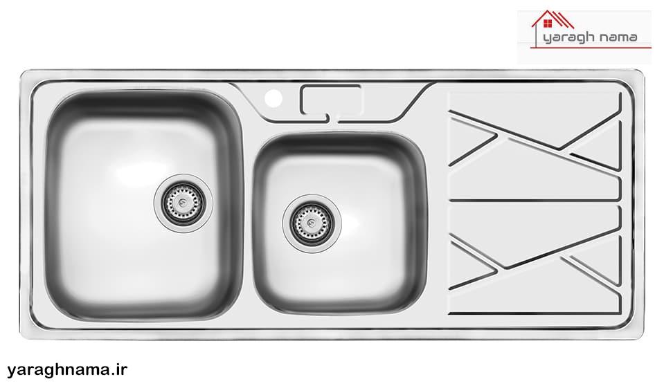 خرید سینک ظرفشویی استیل دو قلو در فروشگاه اینترنتی یراق نما