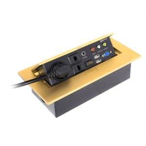 پریز توکار کابینت ملونی مدل ۱۰۰۲۴ طلایی