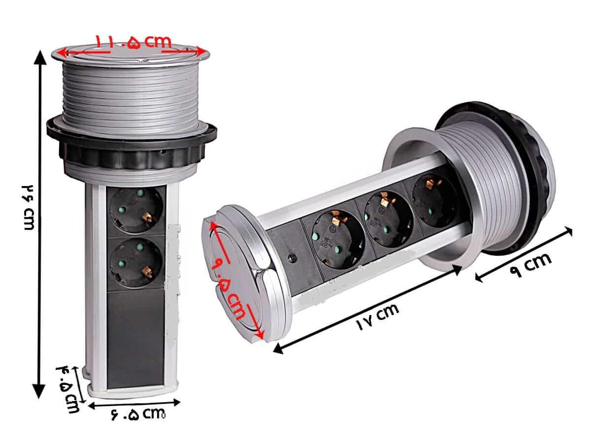 پریز توکار استوانه ای ملونی مدل الکترا ۳