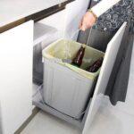 سطل زباله کابینت کف ریل تاندم