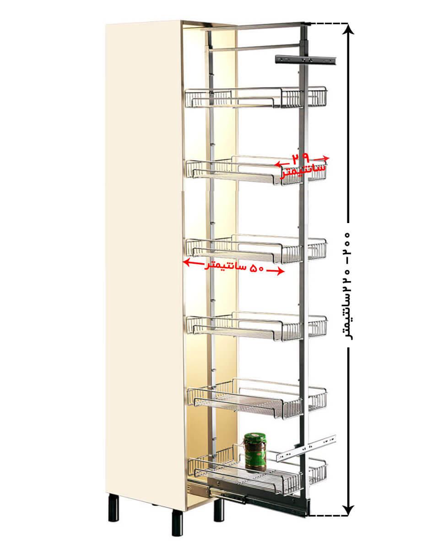 سبد ارگانیزر داخل کابینتی اشپزخانه مدل A622