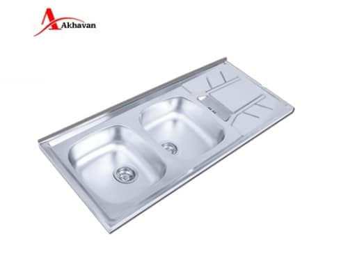 سینک ظرفشویی اخوان روکار مدل ۱۵۵-SP