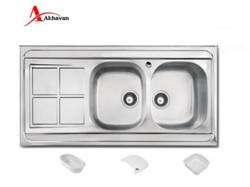 سینک ظرفشویی اخوان روکار مدل ۱۶۲