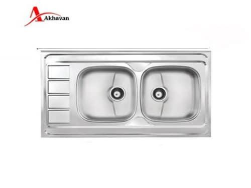 سینک ظرفشویی اخوان روکار مدل ۱۶۳