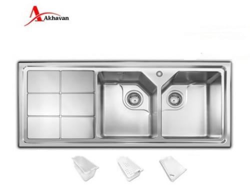 سینک ظرفشویی توکار اخوان مدل ۳۲۴-S