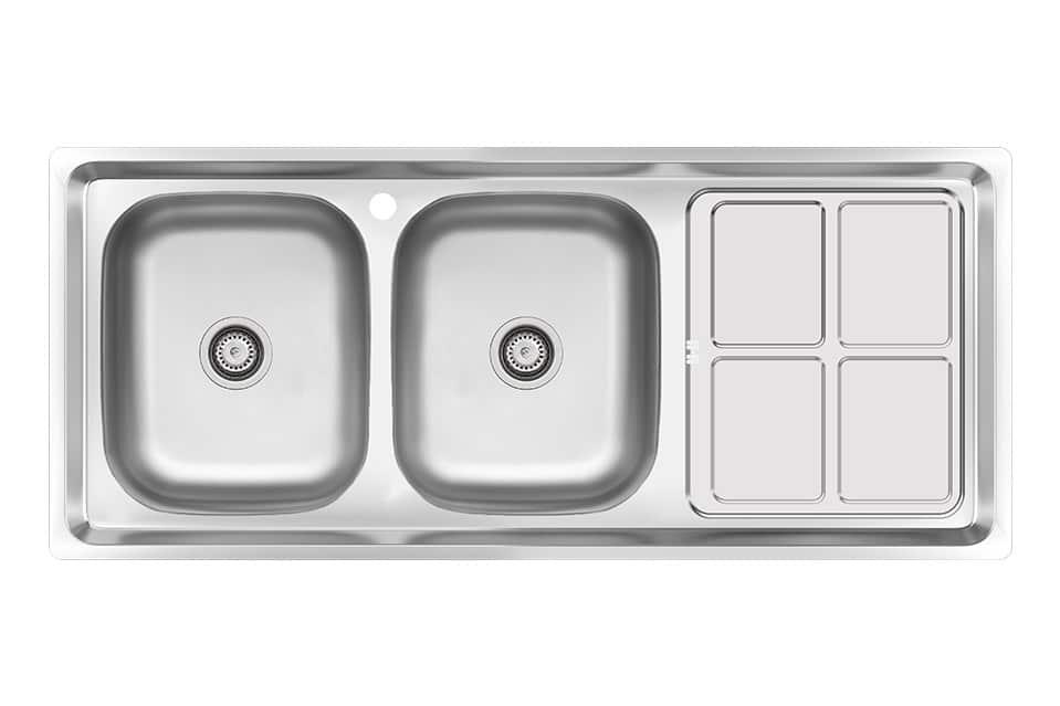 سینک ظرفشویی کن استیل مدل ۴۳۸