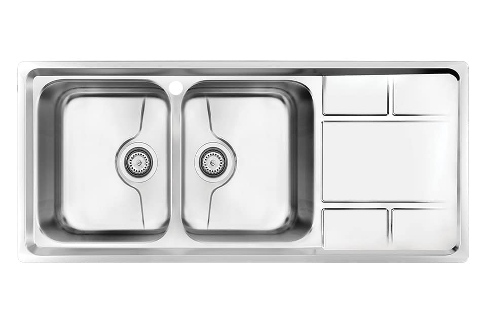 سینک ظرفشویی کن استیل مدل P-8052