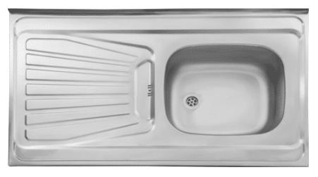 سینک ظرفشویی روکار ۱۶۵/۵۰ استیل البرز