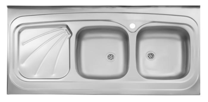 سینک ظرفشویی روکار ۲۲۰/۶۰ استیل البرز
