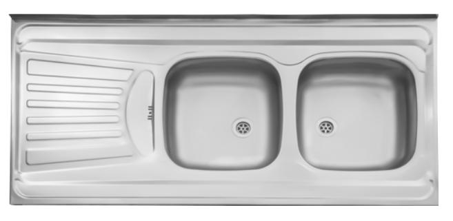 سینک ظرفشویی روکار ۲۶۰/۵۰ استیل البرز
