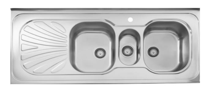 سینک ظرفشویی روکار ۵۳۰/۶۰ استیل البرز