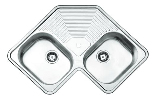 سینک ظرفشویی توکار ۵۴۰ استیل البرز