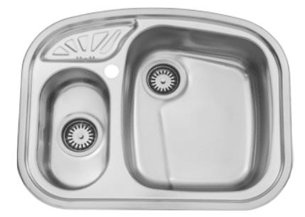 سینک ظرفشویی توکار ۶۰۵ استیل البرز