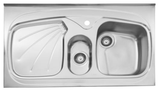 سینک ظرفشویی روکار ۶۱۰/۶۰ استیل البرز