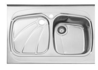 سینک ظرفشویی روکار ۶۱۸/۶۰ استیل البرز