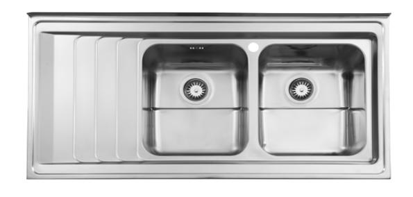 سینک ظرفشویی روکار ۷۳۶۰/۶۰ استیل البرز