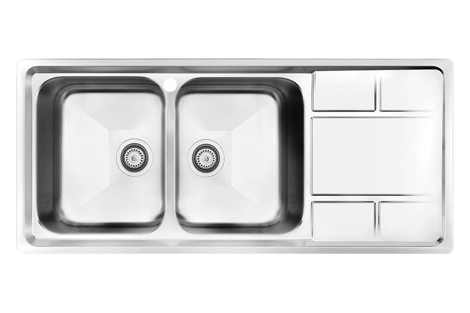 سینک ظرفشویی کن استیل مدل ۸۰۵۲