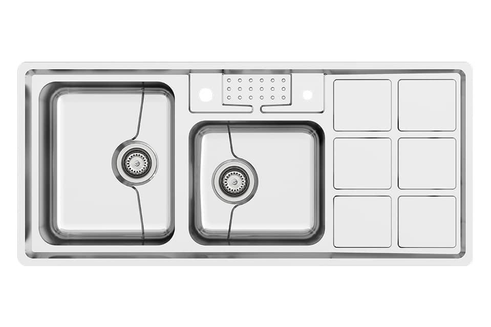 سینک ظرفشویی استیل کن مدلP54-8031