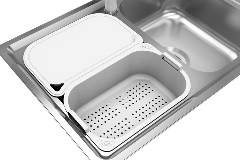 سینک ظرفشویی کن استیل مدل P-8032