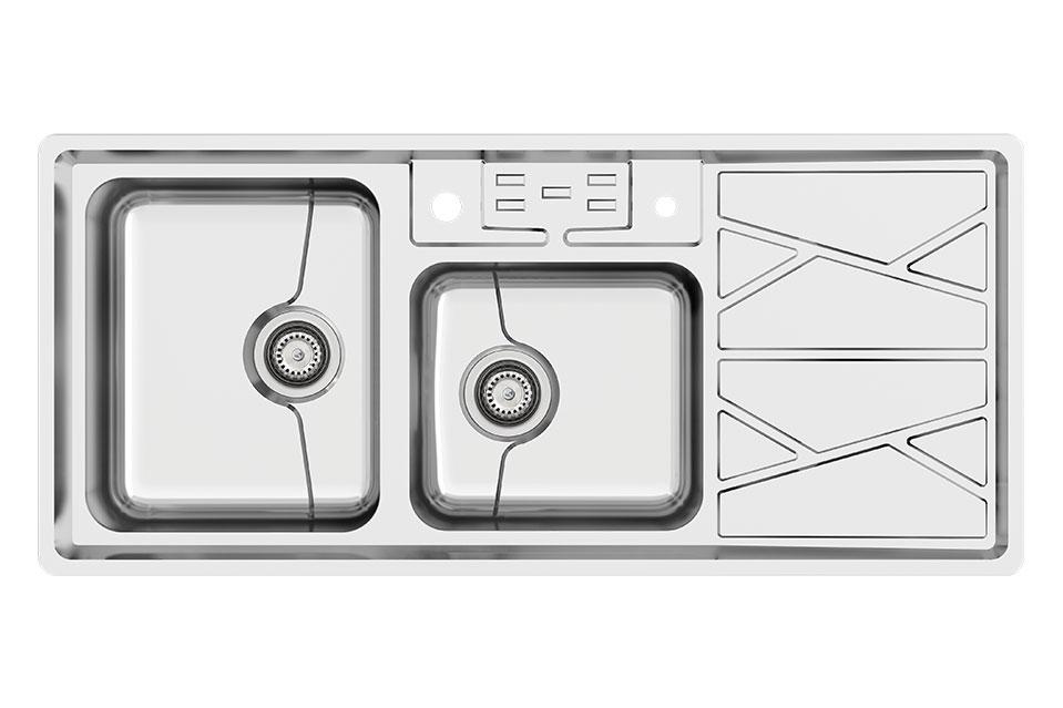 سینک ظرفشویی کن استیل مدل ۸۰۴۱-P45