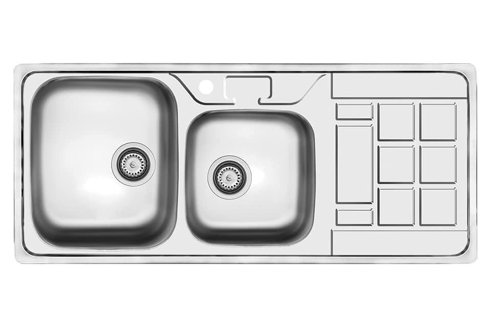 سینک ظرفشویی کن استیل مدل ۹۰۲۱