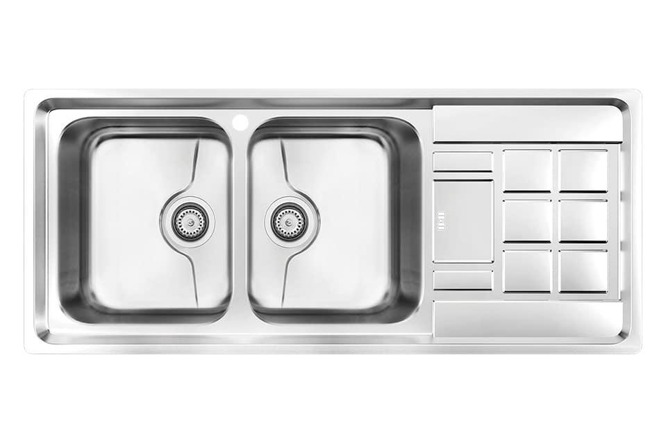 سینک ظرفشویی کن استیل مدل P-8022
