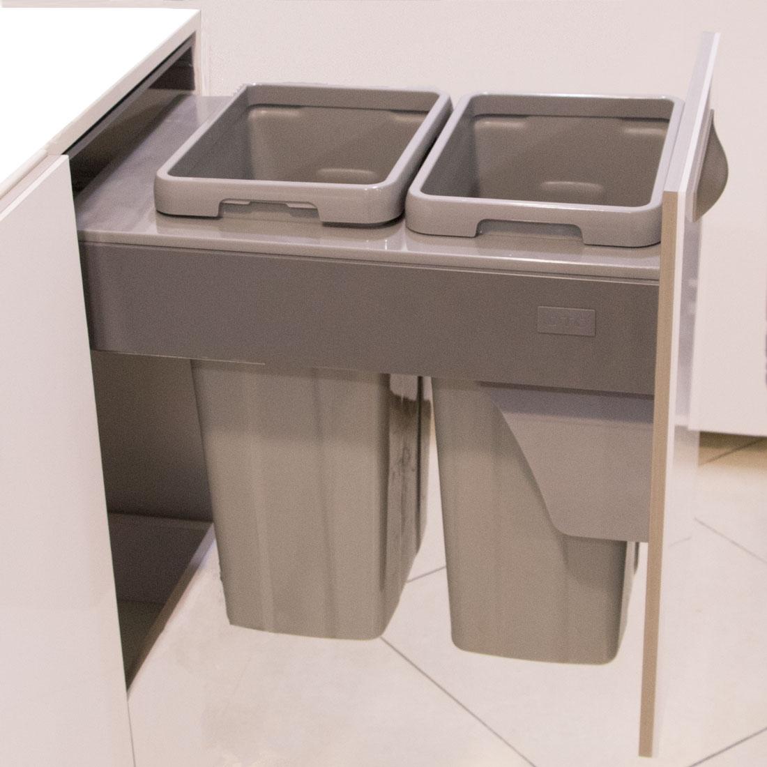 سطل زباله دوقلو ریلی ملونی کد۹۰۰۴