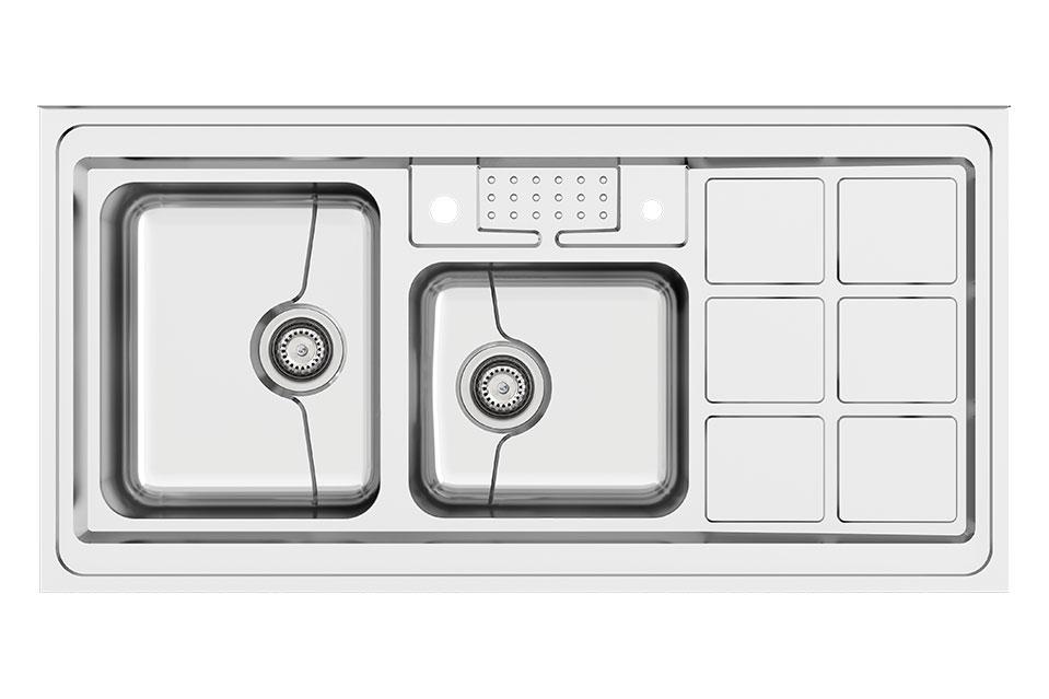سینک ظرفشویی کن استیل مدل P45-9031