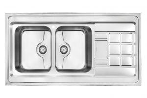 سینک ظرفشویی کن استیل مدل P-9022