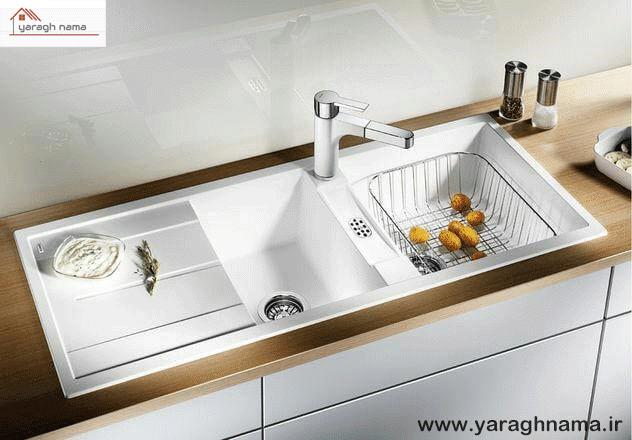 سینک ظرفشویی آشپزخانه دو قلو در فروشگاه اینترنتی یراق نما