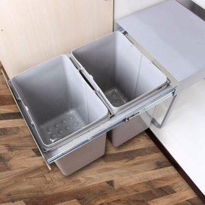 سطل زباله دومخزنه داخل کابینت