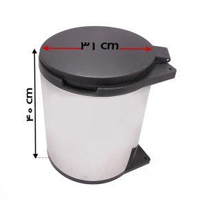 سطل زباله استیل A843