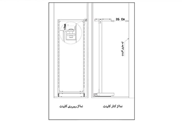 اتصال به بدنه کابینت