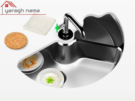 تکنولوژی سینک ظرفشویی چرخان یراق نما