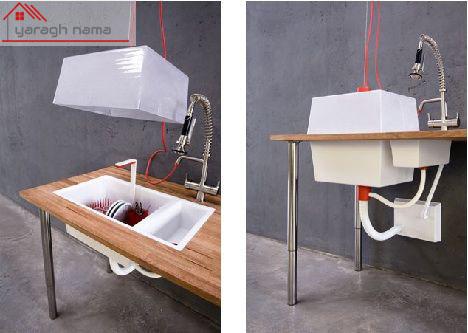 تکنولوژی سینک ظرفشویی کابینتی 2 یراق نما