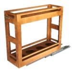 جا بطری چوبی مدل AW869